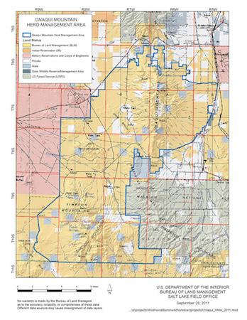 Onaqui Herd map
